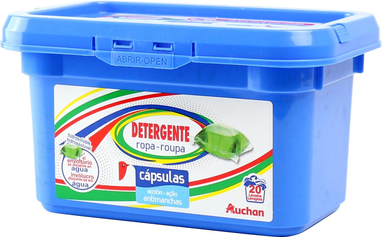 An Lisis De Auchan Alcampo Detergente Ropa Capsulas Comparador  ~ Mejor Detergente Lavadora Calidad Precio