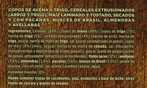 GOLDEN BRIDGE (ALDI) MUESLI CRUJIENTE CON FRUTOS SECOS. | Test y Opiniones GOLDEN BRIDGE (ALDI) MUESLI CRUJIENTE CON FRUTOS SECOS. | OCU